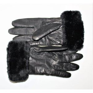 LEATHER gloves large